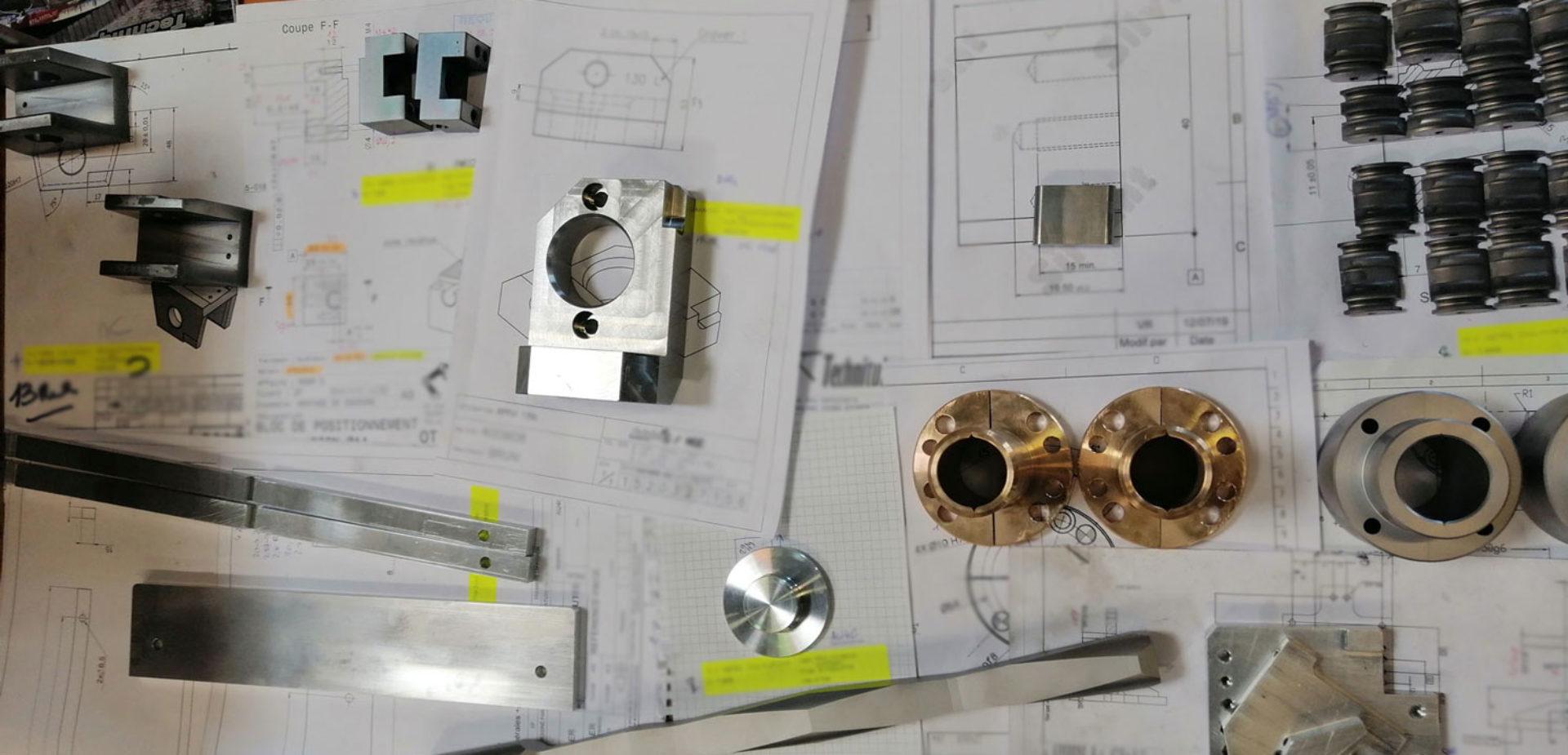 Réalisation de pièces métalliques
